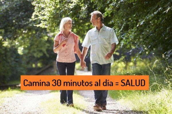 caminar 30 minutos al dia