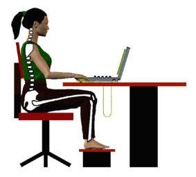 Postura adecuada para trabajar frente al ordenador Postura Adecuada para Trabajar frente al Ordenador