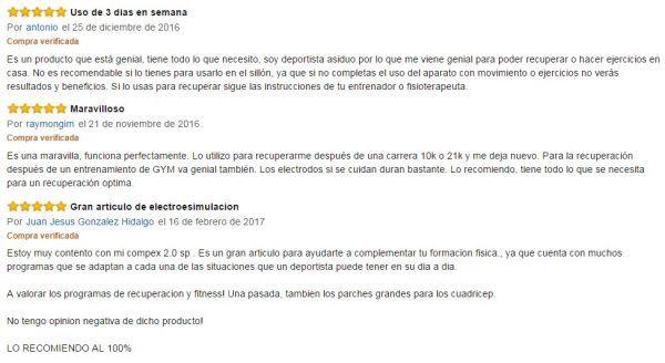 Opinion Electroestimulador Compex SP 2.0