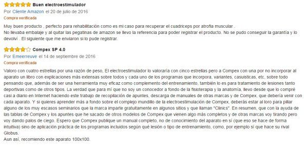 Opinion Electroestimulador Compex SP 4.0