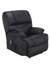 Sillón de masaje reclinable negro, JRD