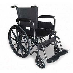 Silla de ruedas de aluminio asiento 46cm