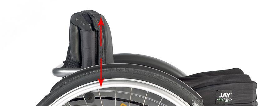 Altura del respaldo en las sillas de ruedas