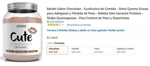 Batido sabor a chocolate